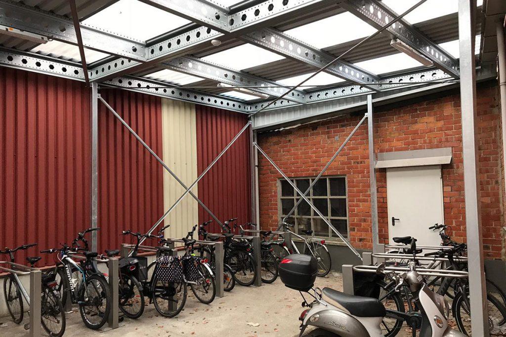 overkapping voor fietsen en scooters voor kantoor en bedrijf